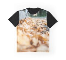 Fallen Leaves Photography Print Graphic T-Shirt