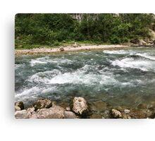 The mountain river Canvas Print