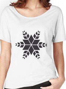 minimalistischer schwarzer Stern Women's Relaxed Fit T-Shirt