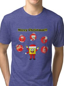 SpongeBob and friends Christmas LIMITED TIME ONLY Tri-blend T-Shirt