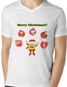 SpongeBob and friends Christmas LIMITED TIME ONLY Mens V-Neck T-Shirt