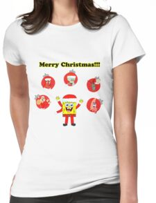SpongeBob and friends Christmas LIMITED TIME ONLY Womens Fitted T-Shirt