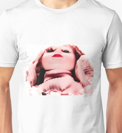 scary pink doll Unisex T-Shirt