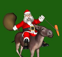 Santa Claus Riding A Donkey by Mythos57