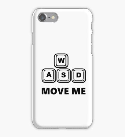 WASD - MOVE ME - PC GAMER iPhone Case/Skin