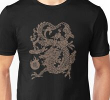 Chinese Dragon Eat The Sun (Gold) Unisex T-Shirt