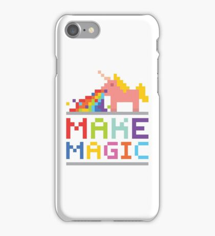 Make magic / Unicorn power iPhone Case/Skin