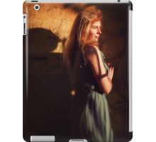 Creative portrait of young woman near wall iPad Case/Skin