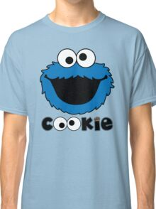 Face Funny Cookie Monster Cartoon Classic T-Shirt