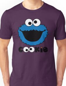 Face Funny Cookie Monster Cartoon Unisex T-Shirt