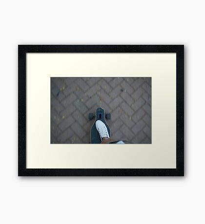 Longboarder Framed Print