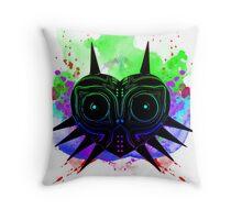 Majoras Mask (Vibrant) Throw Pillow