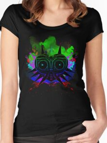 Majoras Mask (Vibrant) Women's Fitted Scoop T-Shirt
