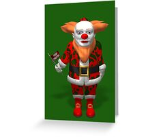 Weird Santa Claus Clown Greeting Card