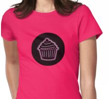 Neon Pink Cupcake from the Future Womens Fitted T-Shirt