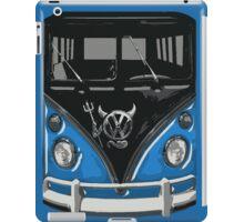 Blue Camper Van With Devil Emblem Art iPad Case/Skin