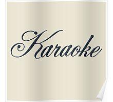Vintage Karaoke (black) Poster