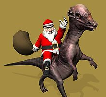 Santa Claus On Pachyosaurus by Mythos57