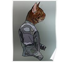 The Cat In Jacket Poster