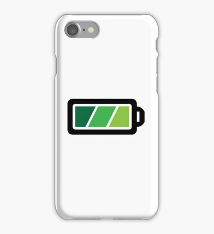 Battery charging status iPhone Case/Skin