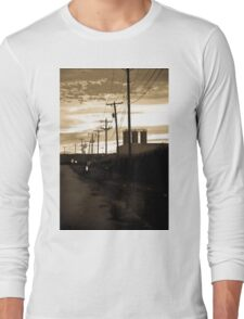 Small Town Power Lines Long Sleeve T-Shirt