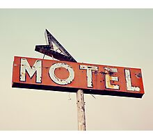 Vacancy - Route 66 Motel Photographic Print
