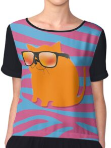 Cool Cat Chiffon Top