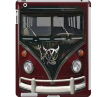 Maroon Camper Van With Devil Emblem iPad Case/Skin