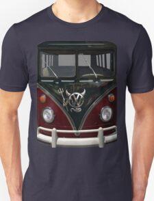Maroon Camper Van With Devil Emblem T-Shirt