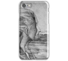 Lost In The Wind, 2016, 50-70 cm, graphite crayon on paper iPhone Case/Skin