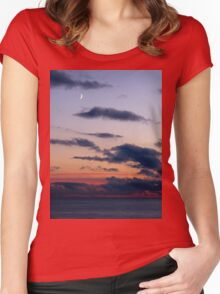 Moon Over Sea Women's Fitted Scoop T-Shirt