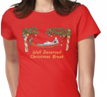 Koala Relaxing on its Hammock on a Well Deserved Christmas Break Womens Fitted T-Shirt