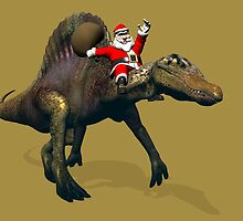 Santa Claus Riding A Spinosaurus by Mythos57