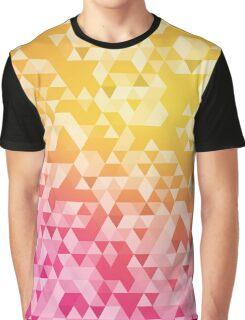 Buntes abstraktes Dreiecksmuster Graphic T-Shirt