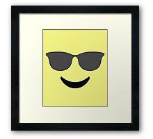 Emoji with Cool Sunglasses Framed Print