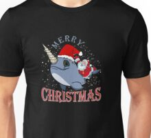 Merry Christmas Narwhal Unisex T-Shirt