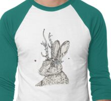 The Jackalope and the Ladybirds at Dawn Men's Baseball ¾ T-Shirt