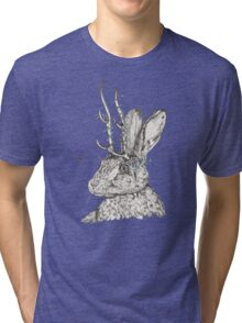 The Jackalope and the Ladybirds at Dawn Tri-blend T-Shirt