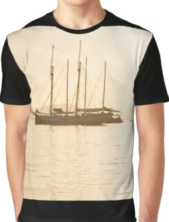 Recreational Yacht at the Indian Ocean Graphic T-Shirt
