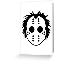 Mask of a serial killer Greeting Card