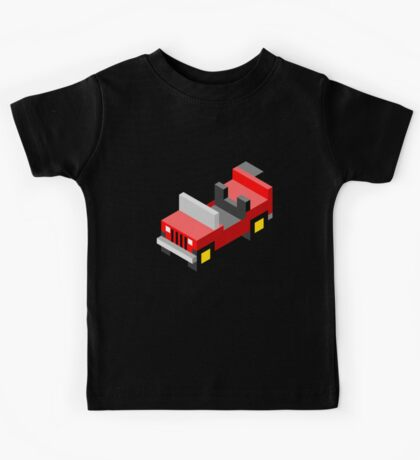 Isometric red off-road car Kids Tee
