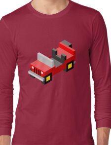 Isometric red off-road car Long Sleeve T-Shirt