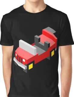 Isometric red off-road car Graphic T-Shirt