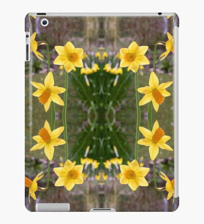 Daffodils and Spring Fabrics iPad Case/Skin
