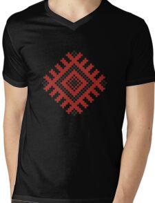 Vector traditional pattern 01 Mens V-Neck T-Shirt