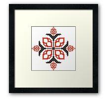 Vector traditional pattern 02 Framed Print