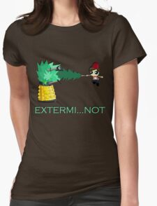 Extermi-not Powerpuff Eleventh Doctor Womens Fitted T-Shirt
