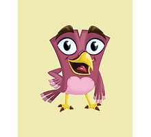 Funny Lovely Vector Graphic Birds For Birds Animal Lovers Photographic Print