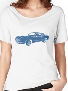 Cartoon blue classic car  Women's Relaxed Fit T-Shirt