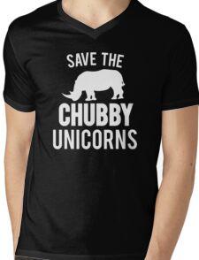 Save The Chubby Unicorn  Mens V-Neck T-Shirt